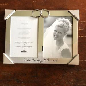 Silver Double Wedding Photo Frame